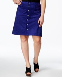 Inc International Concepts Woman Inc International Concepts Plus Size Snap Front A Line Skirt Only At Macy's Blooming Blue