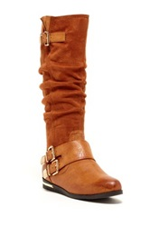 Godiva Platform Riding Boot Brown