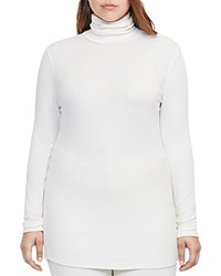 Ralph Lauren Plus Ribbed Jersey Turtleneck Tunic Ivory