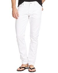 Ralph Lauren Black Label Jeans Stretch Slim Fit In Optic White Optic White Stretch