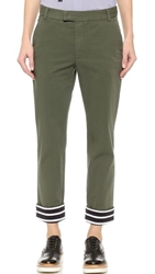 Band Of Outsiders Contrast Ankle Pants Army Green