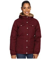 Fjall Raven Greenland No. 1 Down Jacket Dark Garnet Women's Coat Tan