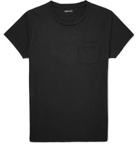 Tom Ford Cold Dyed Cotton T Shirt Black