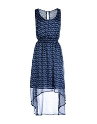 Timeout Dresses Knee Length Dresses Women Dark Blue