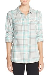 Women's Patagonia 'Fjord' Flannel Shirt Handicraft Tailored Grey