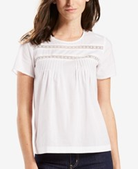 Levi's Lace Trim T Shirt White