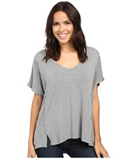 Project Social T Jaxon Dolman Grey Charcoal Women's Shirt Gray