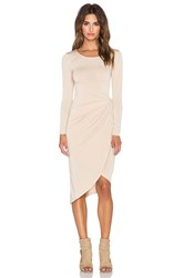Donna Mizani Knot Front Midi Dress Tan