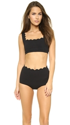 Marysia Swim Palm Springs Sporty Bikini Top Black
