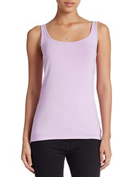 Lord And Taylor Plus Stretch Roundneck Tank Lavender