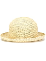Comme Des Gara Ons Comme Des Gara Ons Straw Hat Nude And Neutrals
