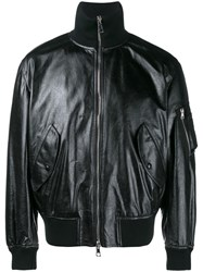 Valentino Funnel Neck Bomber Jacket Black