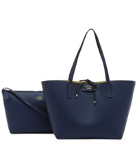 Guess Bobbi Bag In Bag Reversible Tote Navy Multi
