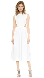 Josh Goot Cutout A Line Dress White