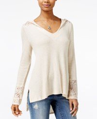American Rag Hooded High Low Sweater Only At Macy's Oatmeal