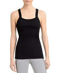2Xist 2 X Ist Square Neck Ribbed Tank Black Space Dye