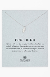Dogeared 'Reminder Free Bird' Boxed Feather Necklace Sterling Silver