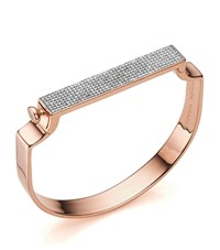 Monica Vinader Signature Diamond Bangle Female Rose Gold