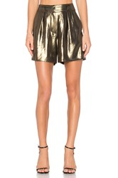 Elizabeth And James Paxton Short Metallic Gold