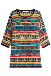 Mes Demoiselles Oversize Pullover With Mohair Multicolor