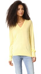 6397 Perfect V Neck Sweater Yellow