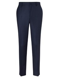 Hackett London Italian Textured Weave Suit Trousers Royal Blue
