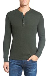 Bonobos Men's Slim Fit Waffle Knit Henley Heather Moss