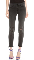J Brand Photo Ready Cropped Mid Rise Skinny Jeans Mercy
