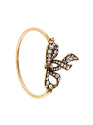 Marc Jacobs Embellished Bow Bracelet Metallic