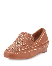 Ivy Kirzhner Apachee Studded Leather Loafer Cuoio