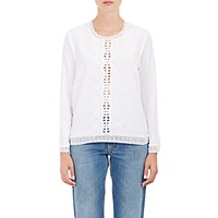 Sea Women's Embroidered Tech Poplin Blouse White