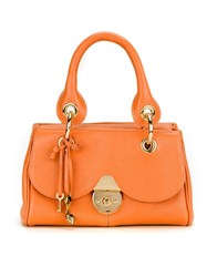 Sarah Chofakian Leather Bag Yellow Orange