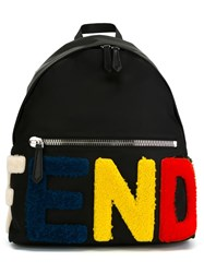 Fendi Logo Backpack Black