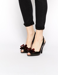 Vivienne Westwood For Melissa Lady Dragon Bow Heeled Sandals Black