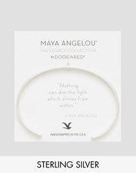 Dogeared Maya Angelou Legacy By Silver Plated Nothing Can Dim The Light From Within Engraved Reminder Cuff Silver