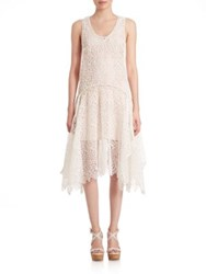 Prose And Poetry Em Drape Lace Dress Geo White