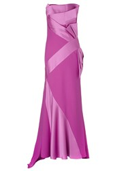 Jacques Vert Lorcan Satin Crepe Bow Gown Pink