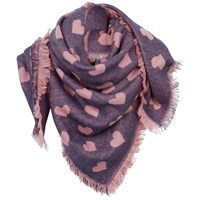 Fat Face Heart Square Scarf Light Navy