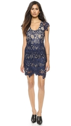 Madison Marcus Humanity Lace Dress Navy