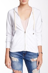 Ever Heather Zip Front Hoodie White