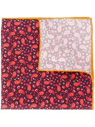 Kiton Paisley Print Pocket Square Multicolour