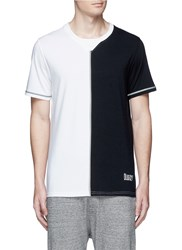 Icny Slice' Reflective Seam T Shirt White Multi Colour