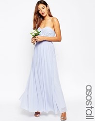 Asos Tall Wedding Multiway Mesh Maxi Dress Icy Blue
