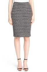 Women's St. John Collection 'Anissa' Houndstooth Knit Pencil Skirt