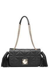 Sonia Rykiel Quilted Leather Shoulder Bag Black