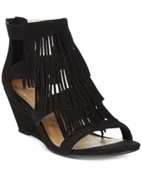 Material Girl Hannah Demi Wedge Fringe Sandals Only At Macy's Women's Shoes