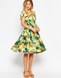 Emily And Fin Emily And Fin Dapne Off Shoulder Dress 901Green