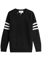 Current Elliott Wool Pullover With Stripes Black