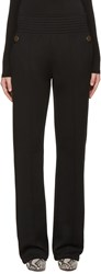 Givenchy Black Gold Buttons Trousers