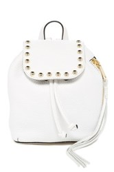 Rebecca Minkoff Micro Unlined Leather Backpack White